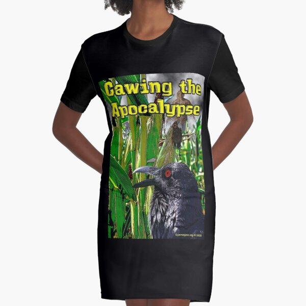 Cawing the Apocalypse Graphic T-Shirt Dress