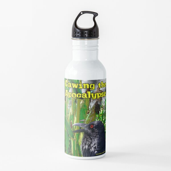 Cawing the Apocalypse Water Bottle