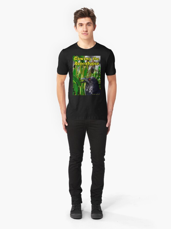 Alternate view of Cawing the Apocalypse Slim Fit T-Shirt