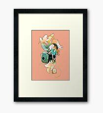 Thumbelina - Peach Framed Print
