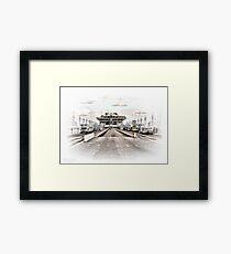 St. Petersburg Pier HDR Framed Print