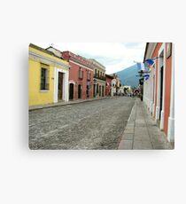 Antigua streetscape Canvas Print