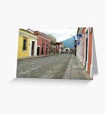 Antigua streetscape Greeting Card