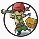 Cute Pirate cartoon by ArtNouveau