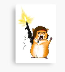 Hamster Rambo Canvas Print