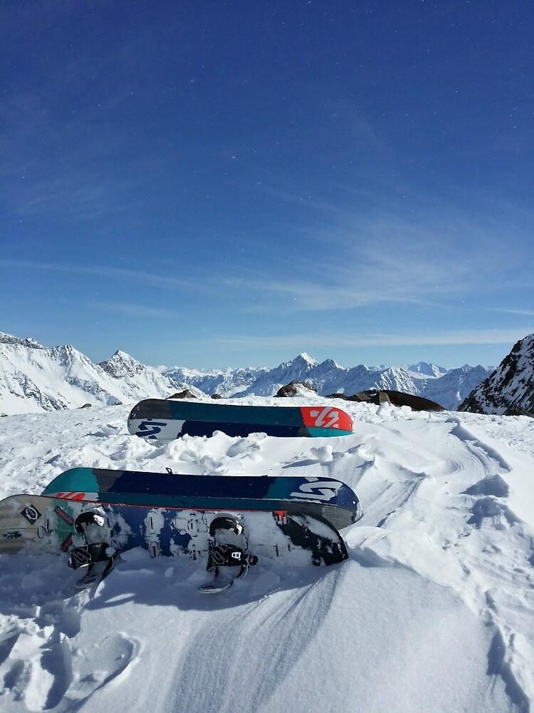 Snowboarding by franceslewis