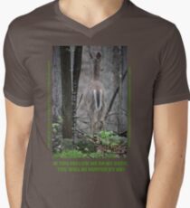 If you follow me on my path you will be hunted by me! Men's V-Neck T-Shirt