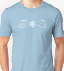 Camiseta ajustada Papel. Nieve. ¡Un fantasma!
