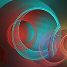 Translucent circles fractal abstract by walstraasart