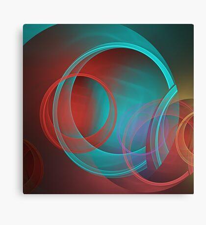 Translucent circles fractal abstract Canvas Print