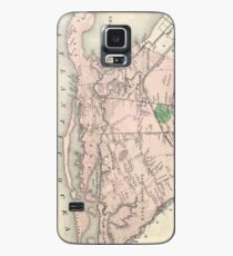 Vintage Gravesend and Coney Island Map (1873) Case/Skin for Samsung Galaxy