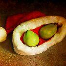 Santa pear by Amy Herrfurth