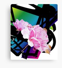 A Refined Modern Look with Sensual Pink Roses Canvas Print