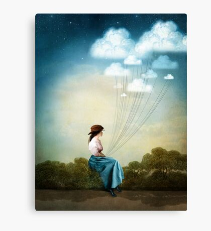 Blue Thoughts Canvas Print