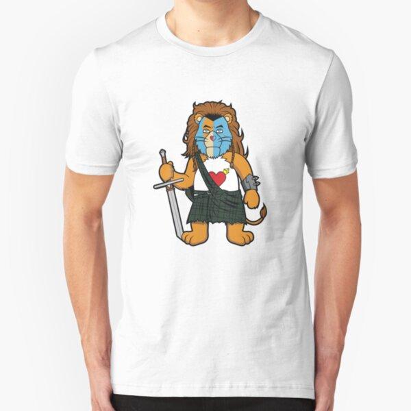 Brave Of Heart Lion Slim Fit T-Shirt
