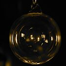 Glass Bauble- Gold. by Lou Wilson