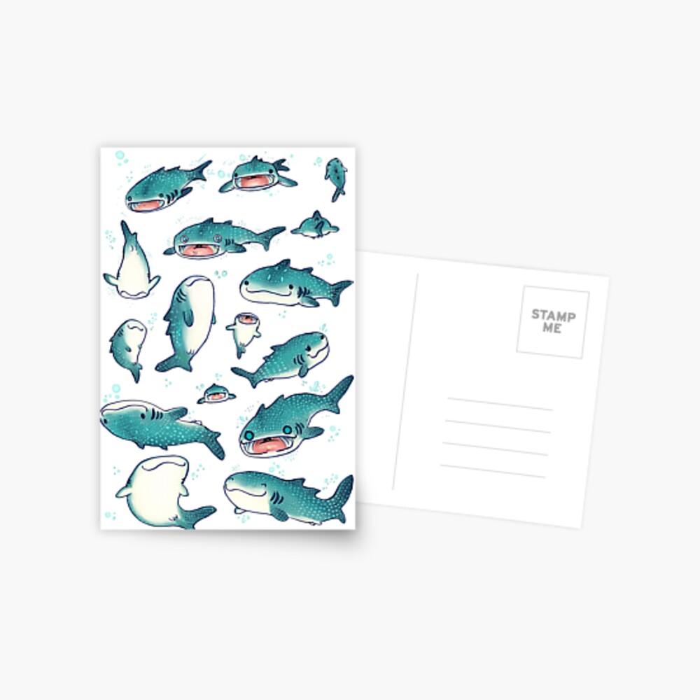 whale sharks! Postcard
