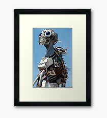 Recycled Waste Electrical and Electronic Equipment Robot Man Framed Print