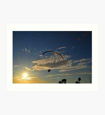 Power Paragliding   Art Print