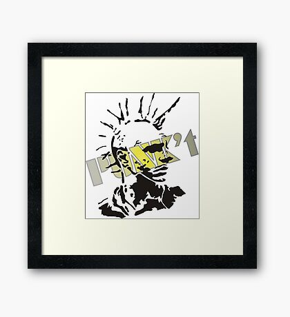 Punk't stamped Framed Print