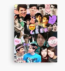 Dan & Phil Collage Canvas Print