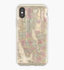 Vinilo o funda para iPhone Vintage Map of NYC and Brooklyn (1882)