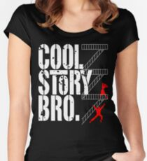 West Side Story, Bro. (White) Women's Fitted Scoop T-Shirt