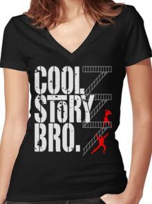 West Side Story, Bro. (White) Women's Fitted V-Neck T-Shirt