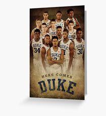 Duke basketball Greeting Card