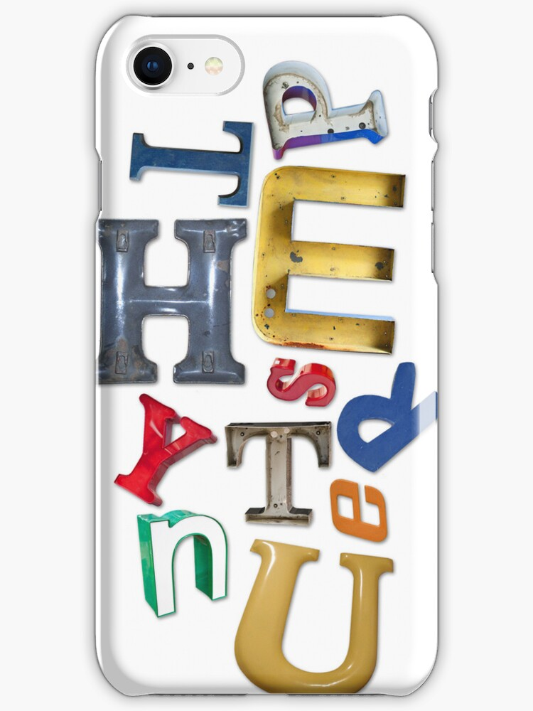 Letter Junkie iPhone Case by graphicasylum