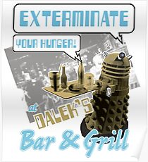 Dalek's Bar & Grill Poster