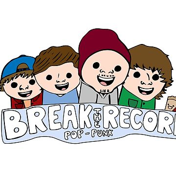 Break The Record Pop Punk Cartoon Design by Dashmagic