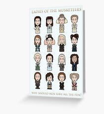 Ladies of The Musketeers (print/card) Greeting Card