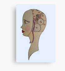 Clockwork Girl Canvas Print