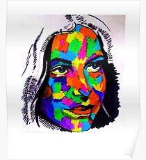 Female Face Abstract Poster