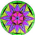Purple and Green Mandala by Richard-Gary Butler