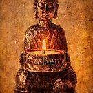Buddha with candle by inkedsandra