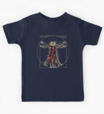 "Da Vinci Meets the Doctor - ""Reds"" (for Dark T-shirts) Kids Tee"