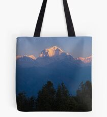 Sunrise on Dhaulagiri from Poon Hill Tote Bag