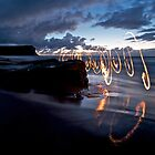 Garie Beach - Fire Scribbles by Alexander Kesselaar