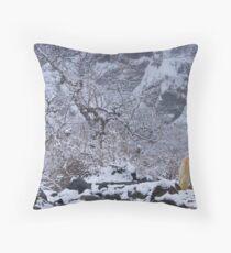 Snow Dog, Annapurna Sanctuary Throw Pillow