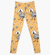 Retro Chickens Leggings