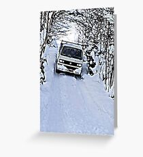 Syncro Sledging  Greeting Card