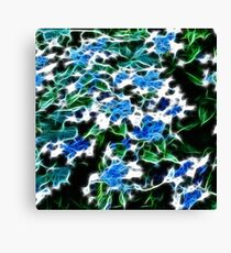 Blue Floral Fantasy Canvas Print