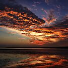 Clouds on fire by Keith McGuinness