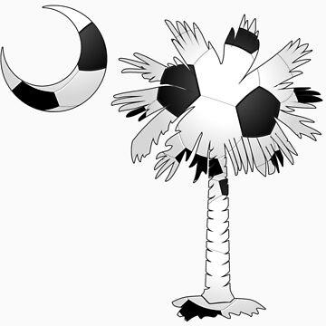 Soccer Palmetto Moon by PalmettoTrading