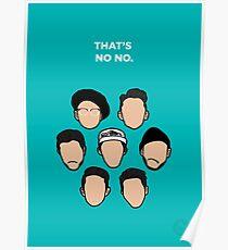 That's No No - Faces Poster