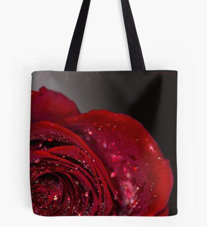 Red Rose macro 2 Tote Bag