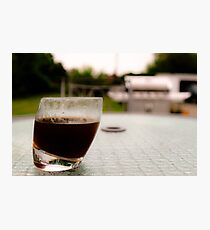 Sipping coffee in the yard  Photographic Print