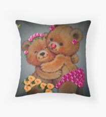 You're grown up now, Teddie girl...you better behave! Throw Pillow